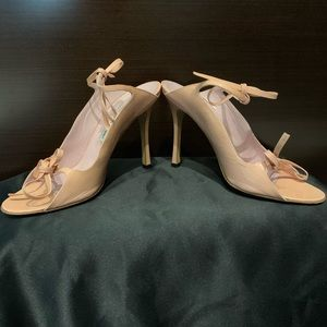Manolo Blahnik Blush Pink Patent Leather Sandals